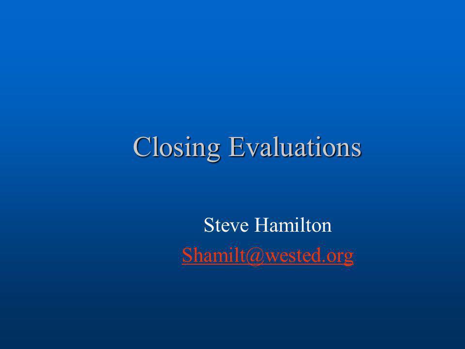 Steve Hamilton Shamilt@wested.org