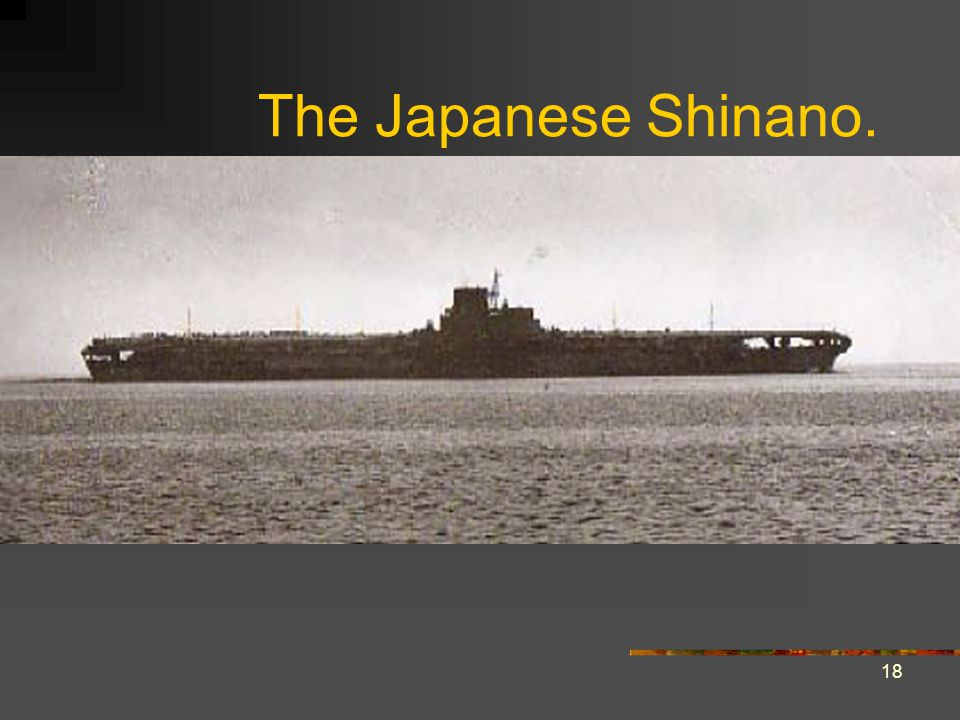 The Japanese Shinano.