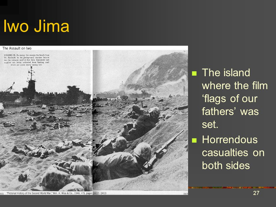 Iwo Jima The island where the film 'flags of our fathers' was set.
