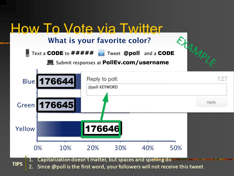 How To Vote via Twitter EXAMPLE