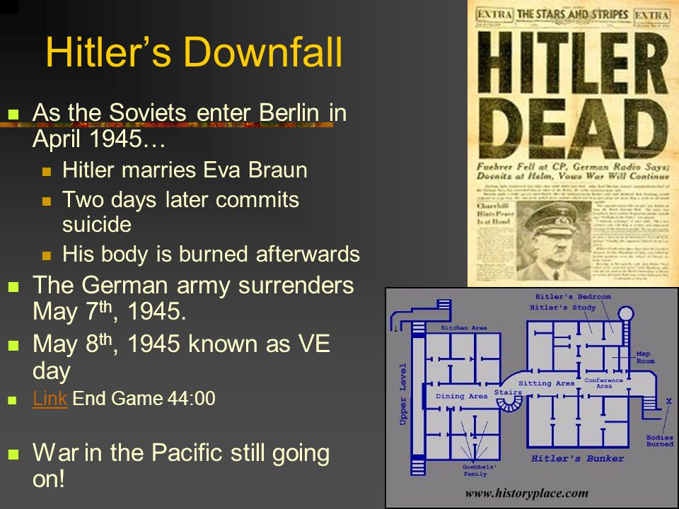 Hitler's Downfall As the Soviets enter Berlin in April 1945…