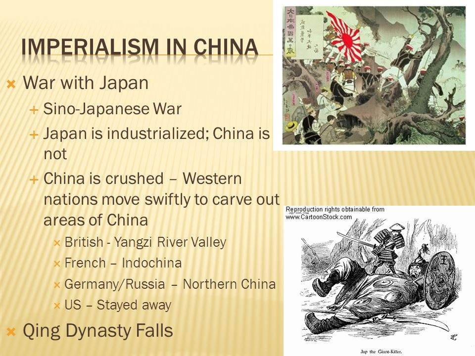 Imperialism in China War with Japan Qing Dynasty Falls