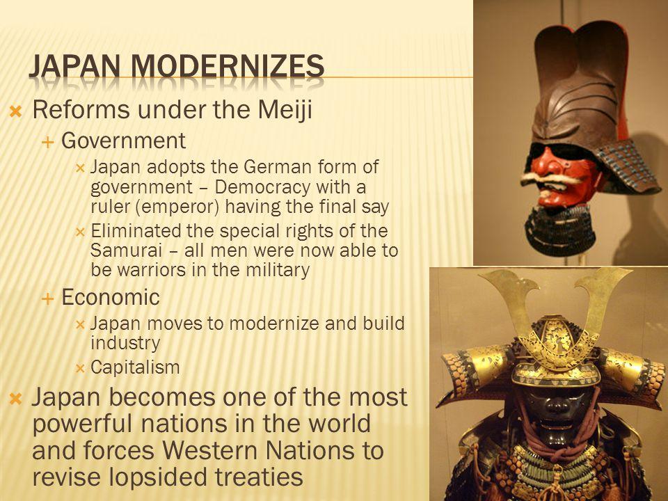 Japan Modernizes Reforms under the Meiji