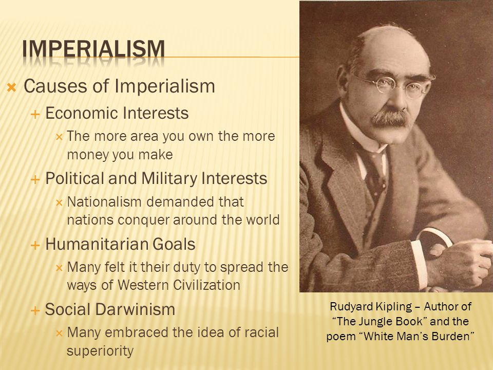 Imperialism Causes of Imperialism Economic Interests