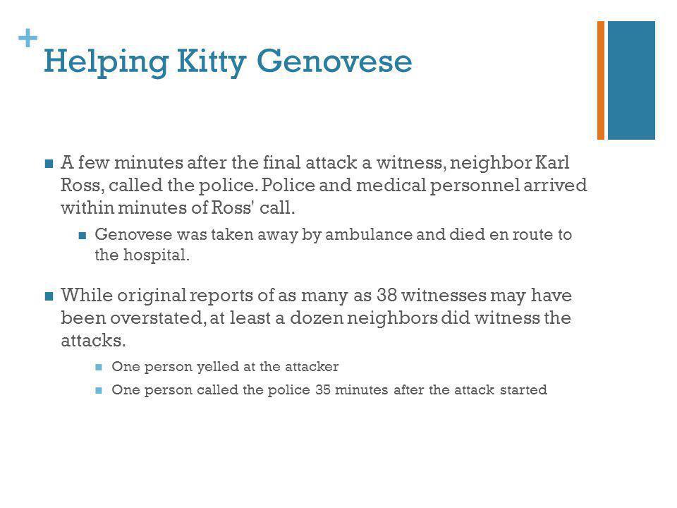 Helping Kitty Genovese