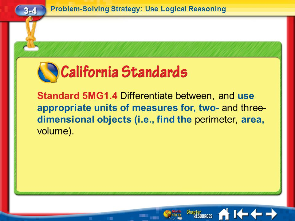 3-4 Problem-Solving Strategy: Use Logical Reasoning.