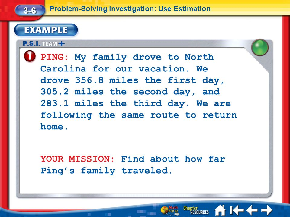 YOUR MISSION: Find about how far Ping's family traveled.