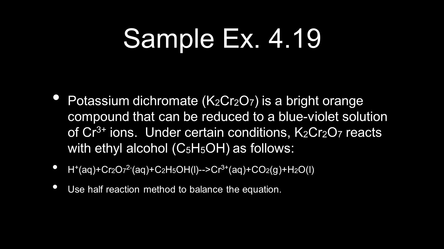 Sample Ex. 4.19