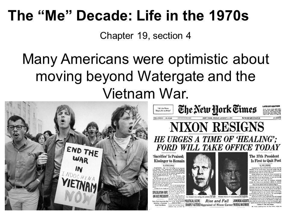 The Me Decade: Life in the 1970s