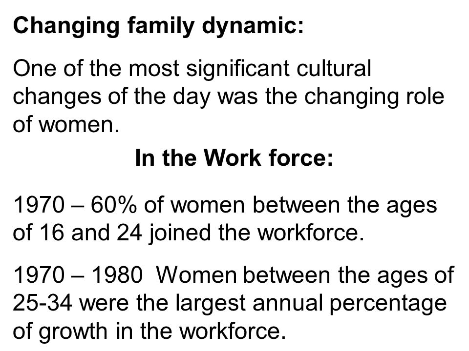 Changing family dynamic: