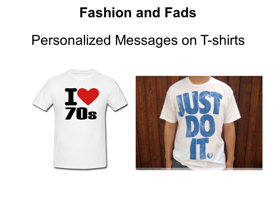 Personalized Messages on T-shirts