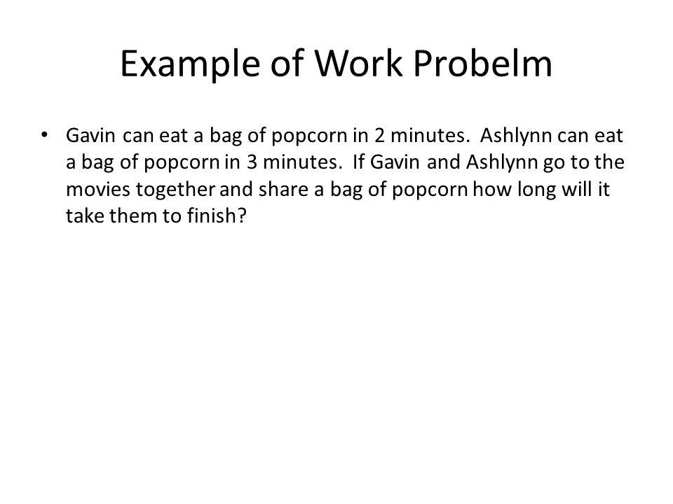 Example of Work Probelm
