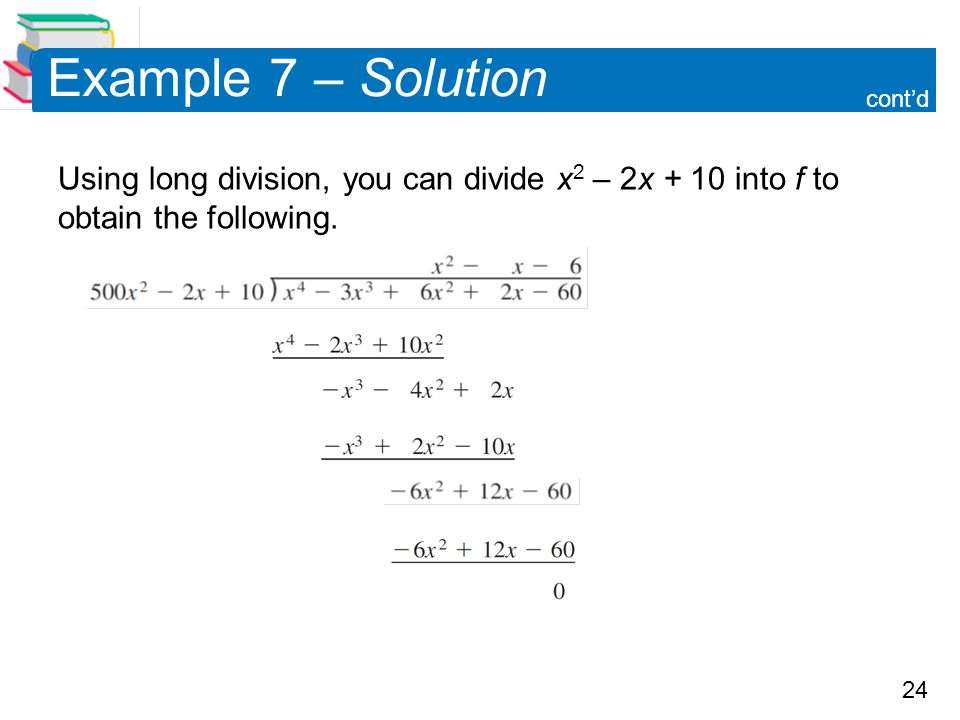 Example 7 – Solution cont'd.