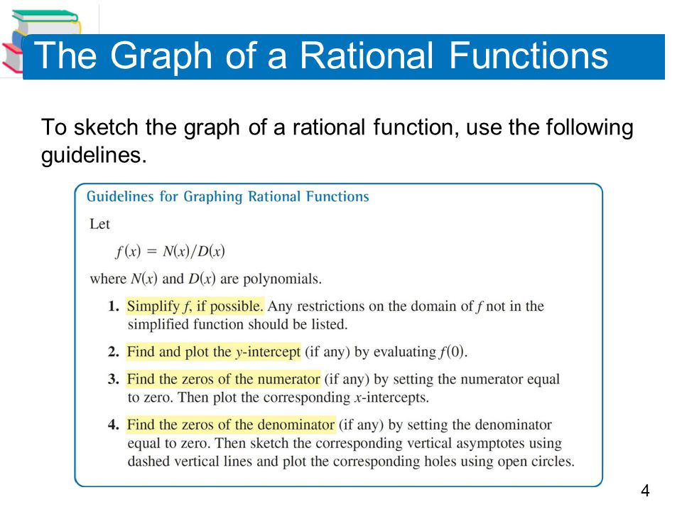 The Graph of a Rational Functions