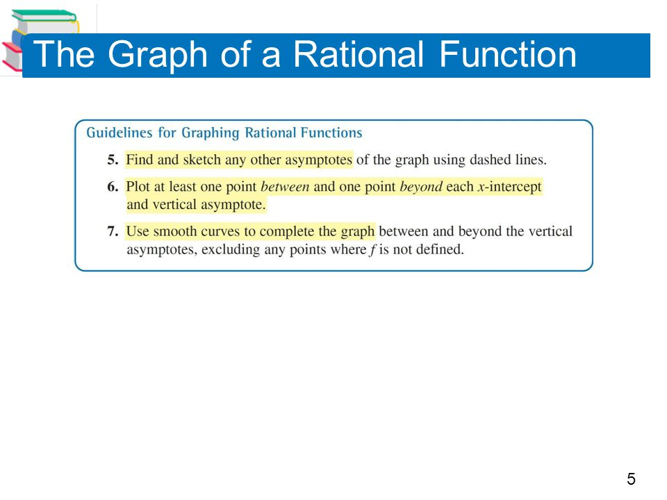 The Graph of a Rational Function