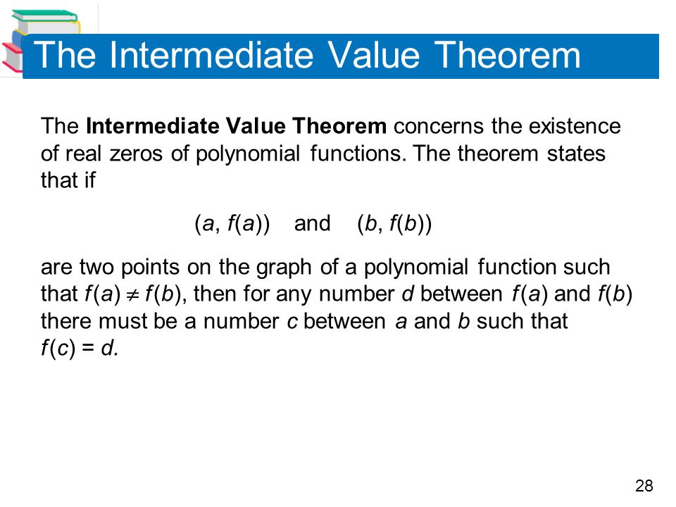The Intermediate Value Theorem