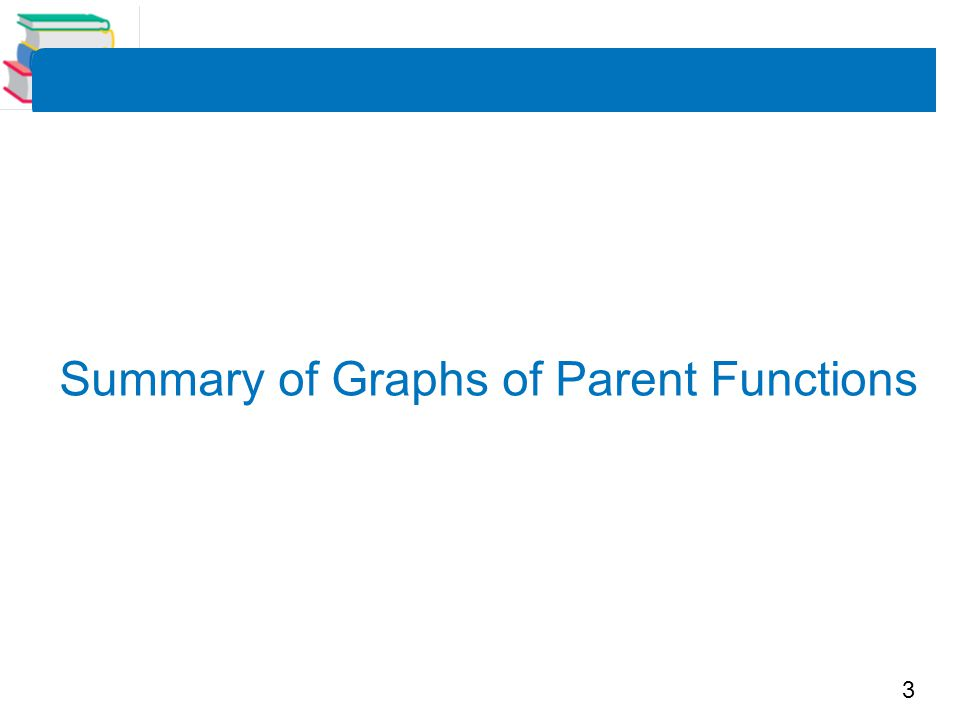 Summary of Graphs of Parent Functions