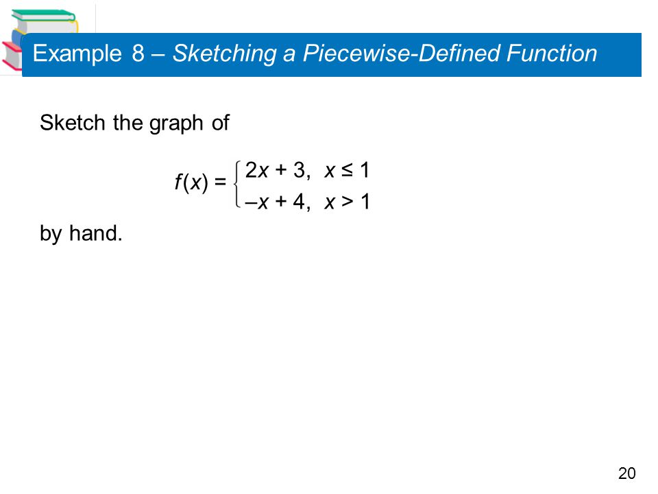 Example 8 – Sketching a Piecewise-Defined Function