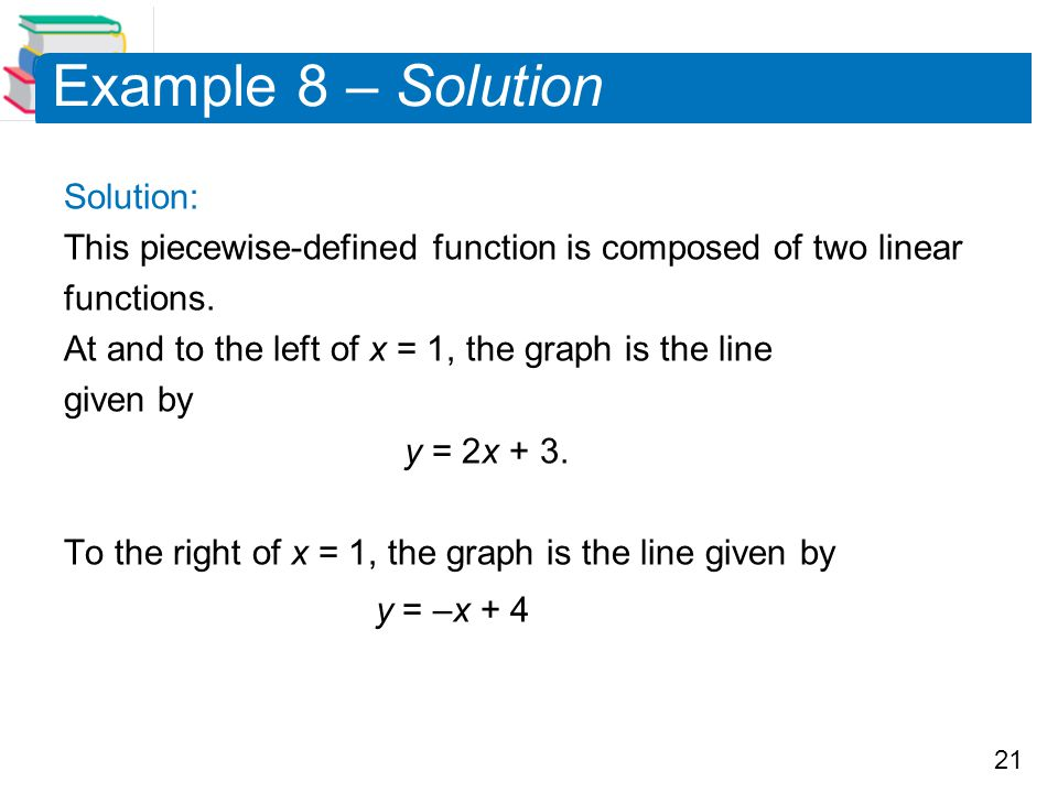Example 8 – Solution