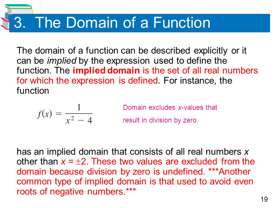 3. The Domain of a Function