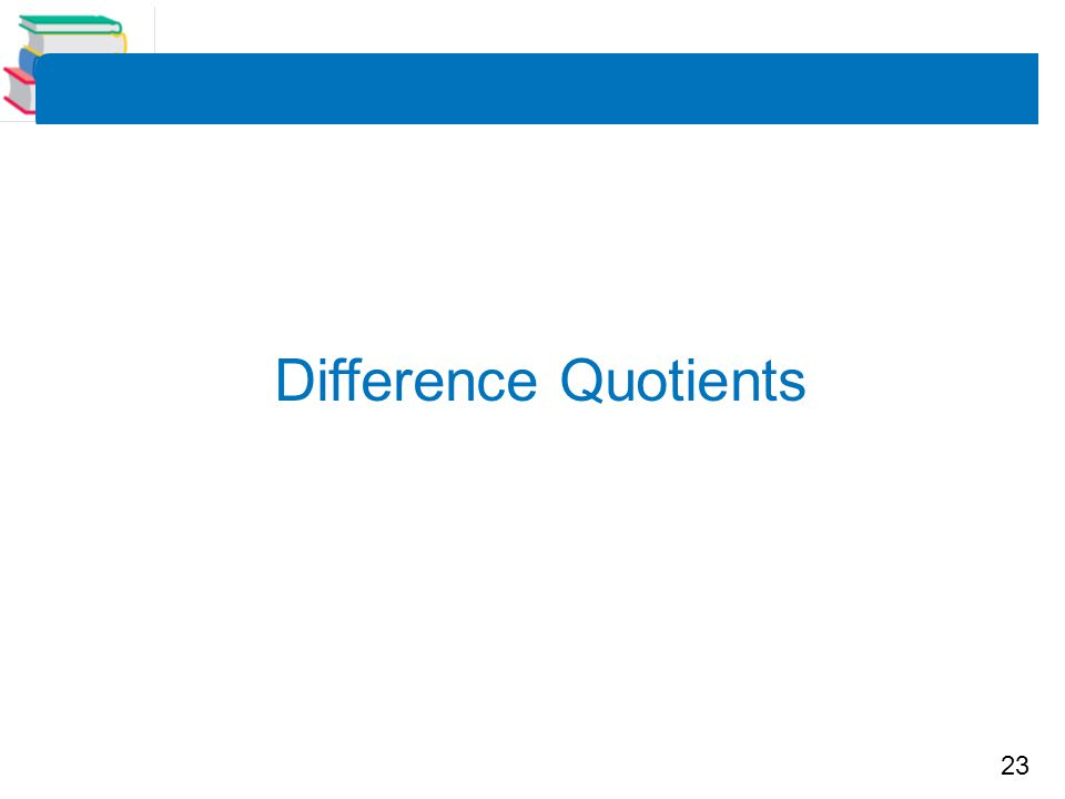 Difference Quotients