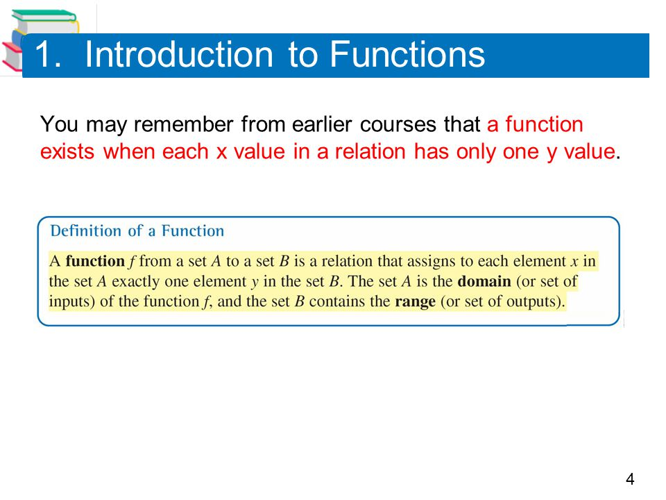 1. Introduction to Functions