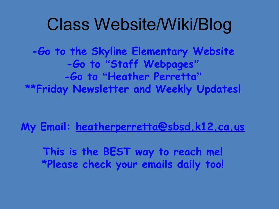 Class Website/Wiki/Blog