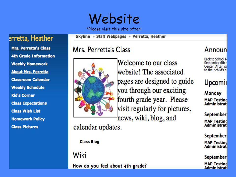 Website *Please visit this site often!