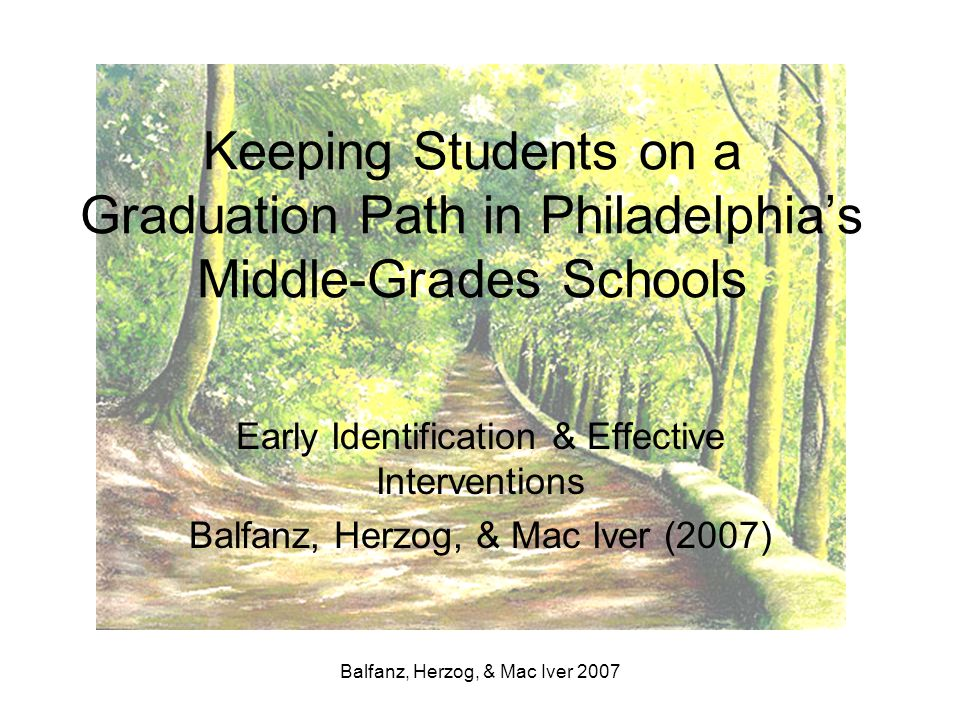 Keeping Students on a Graduation Path in Philadelphia's Middle-Grades Schools