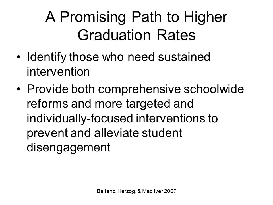 A Promising Path to Higher Graduation Rates