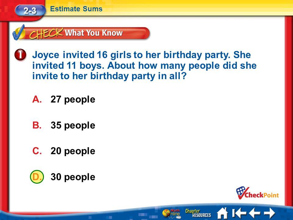 2-3 Estimate Sums.