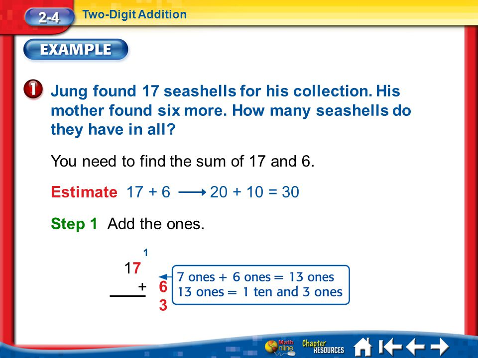 You need to find the sum of 17 and 6.