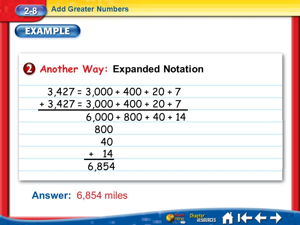 Another Way: Expanded Notation