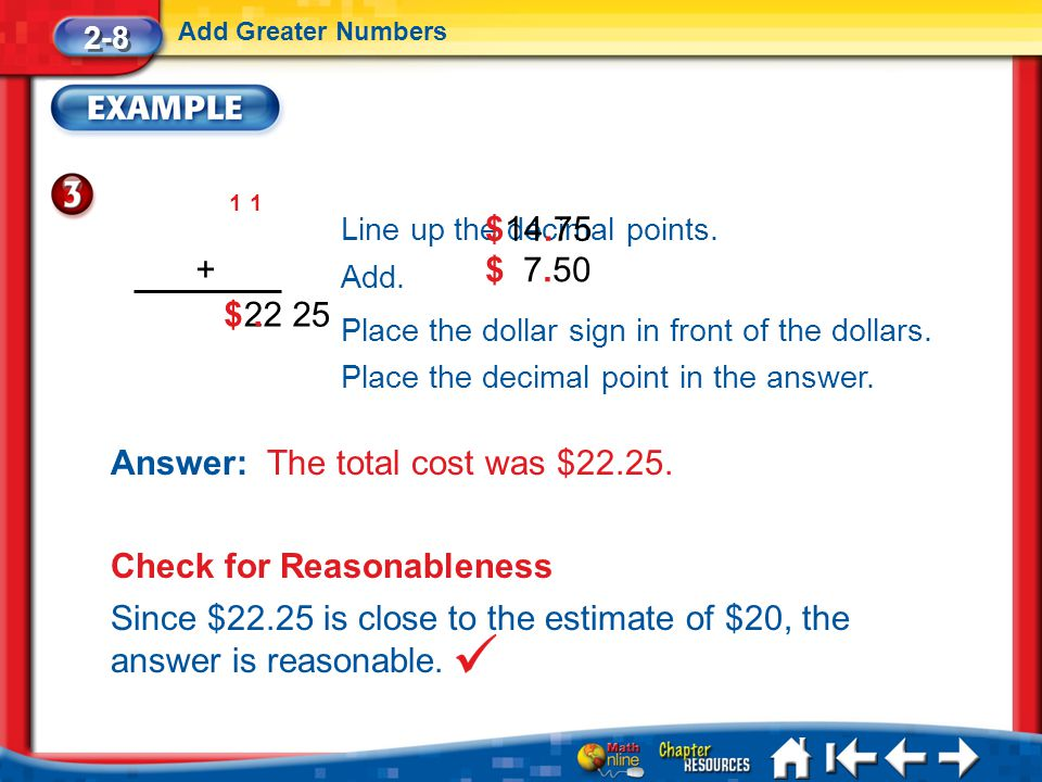 Answer: The total cost was $22.25.