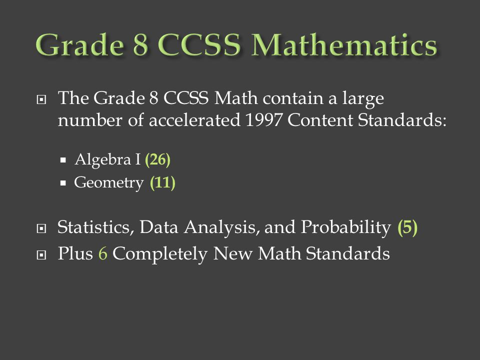 Grade 8 CCSS Mathematics