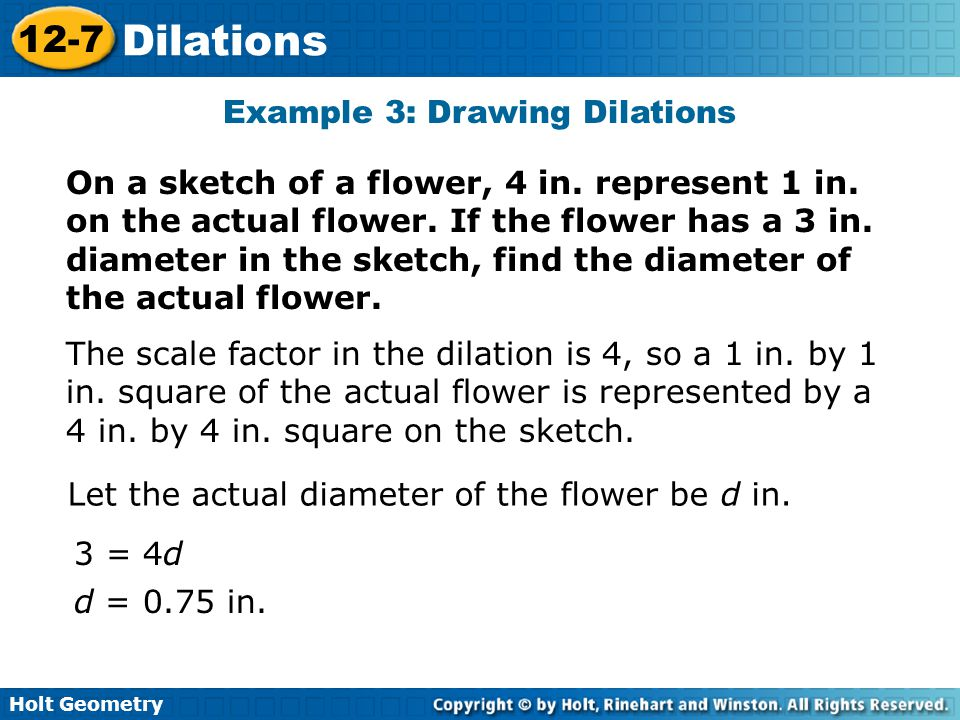 Example 3: Drawing Dilations