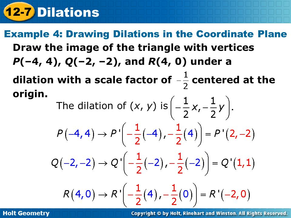 Example 4: Drawing Dilations in the Coordinate Plane