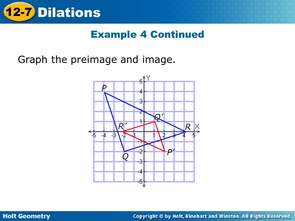 Graph the preimage and image.