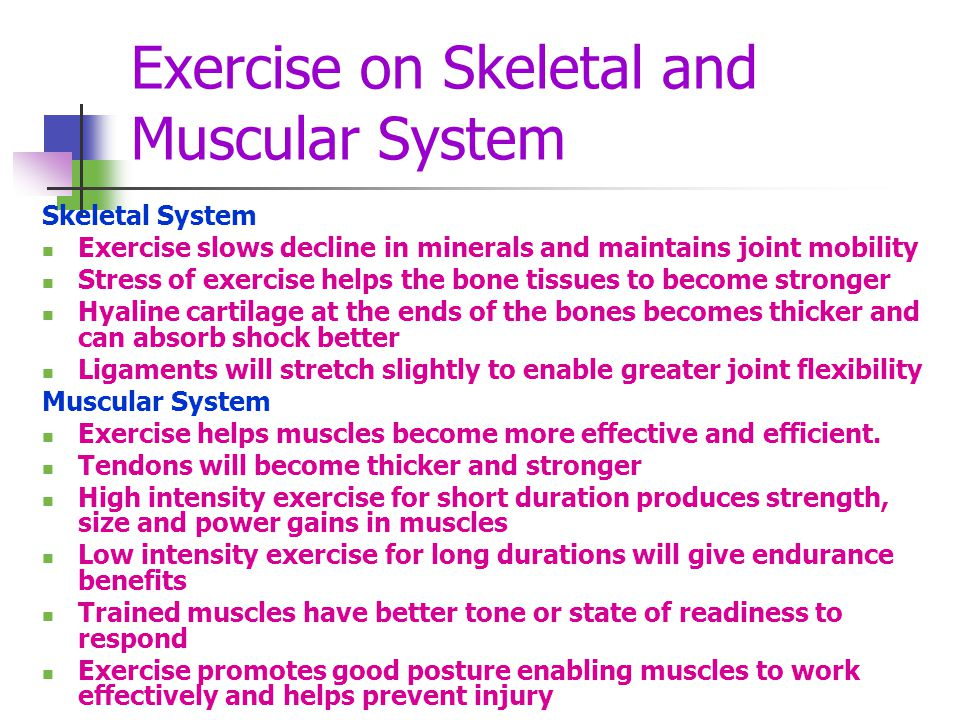 Exercise on Skeletal and Muscular System