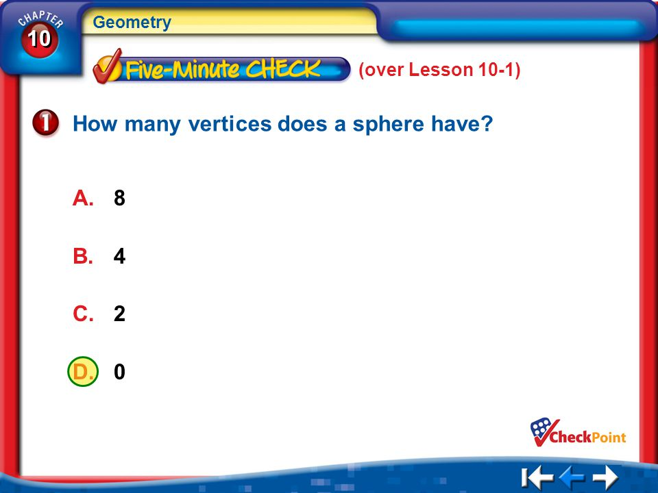 How many vertices does a sphere have