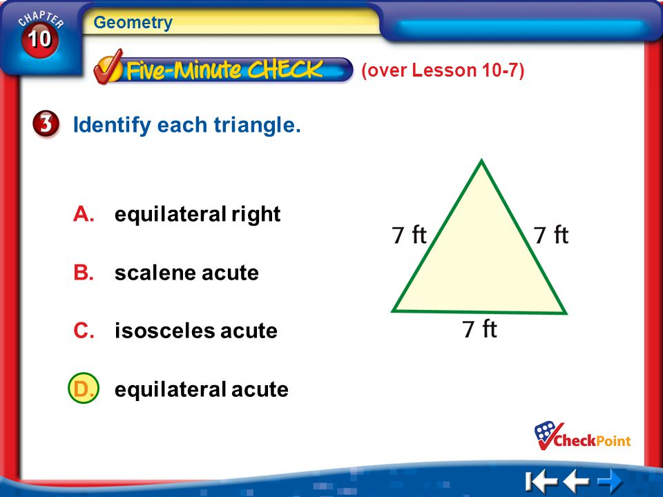 Identify each triangle.