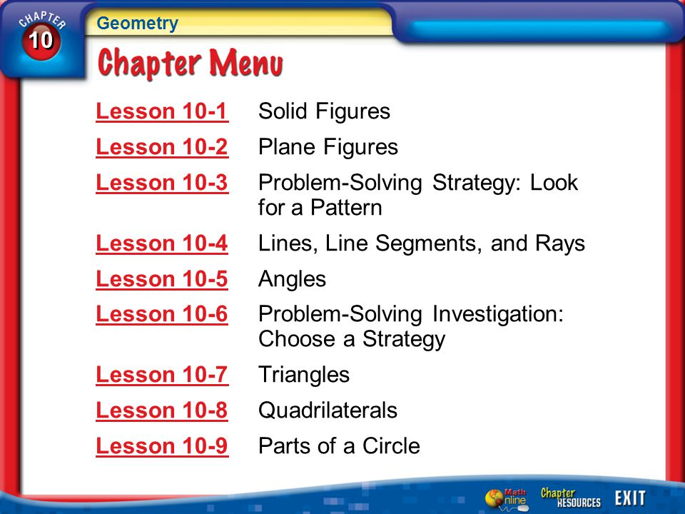 Lesson 10-3 Problem-Solving Strategy: Look for a Pattern