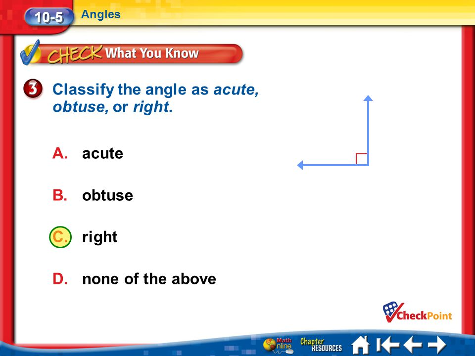 Classify the angle as acute, obtuse, or right.