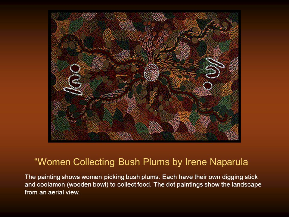 Women Collecting Bush Plums by Irene Naparula