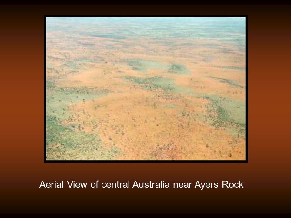Aerial View of central Australia near Ayers Rock