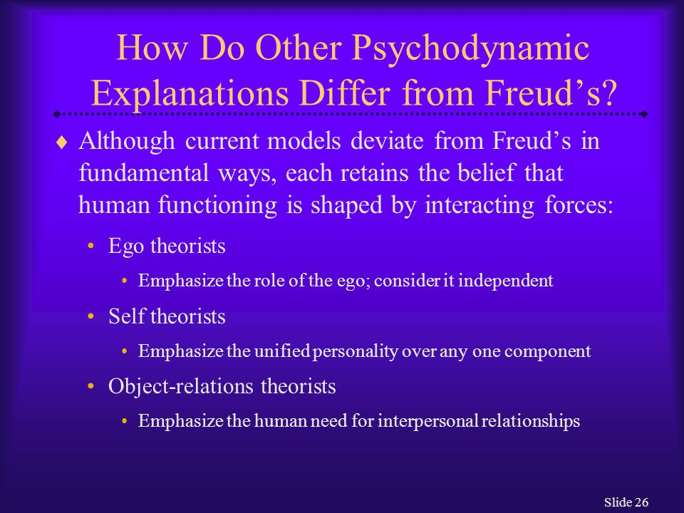 How Do Other Psychodynamic Explanations Differ from Freud's