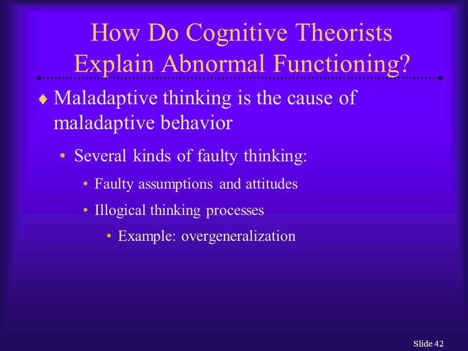 How Do Cognitive Theorists Explain Abnormal Functioning