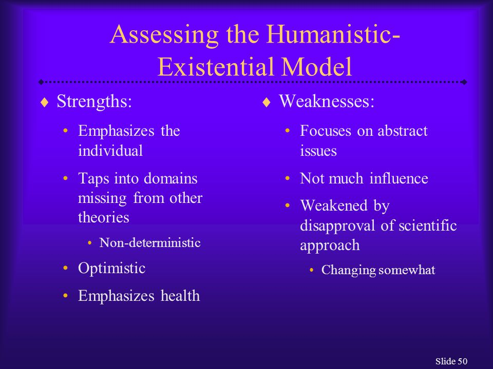 Assessing the Humanistic-Existential Model