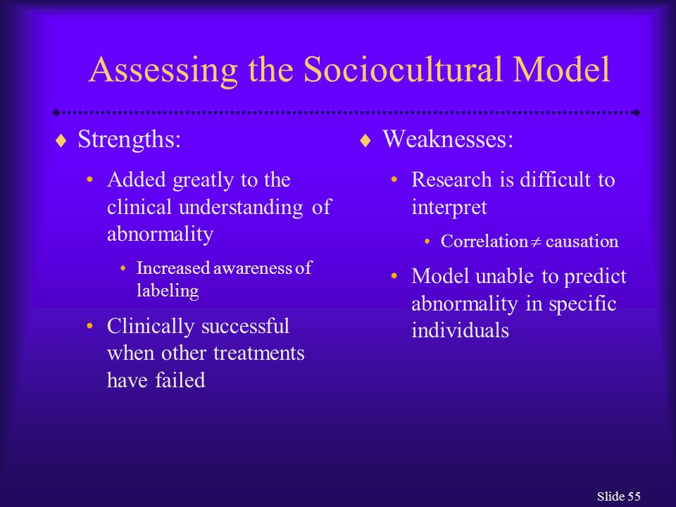 Assessing the Sociocultural Model