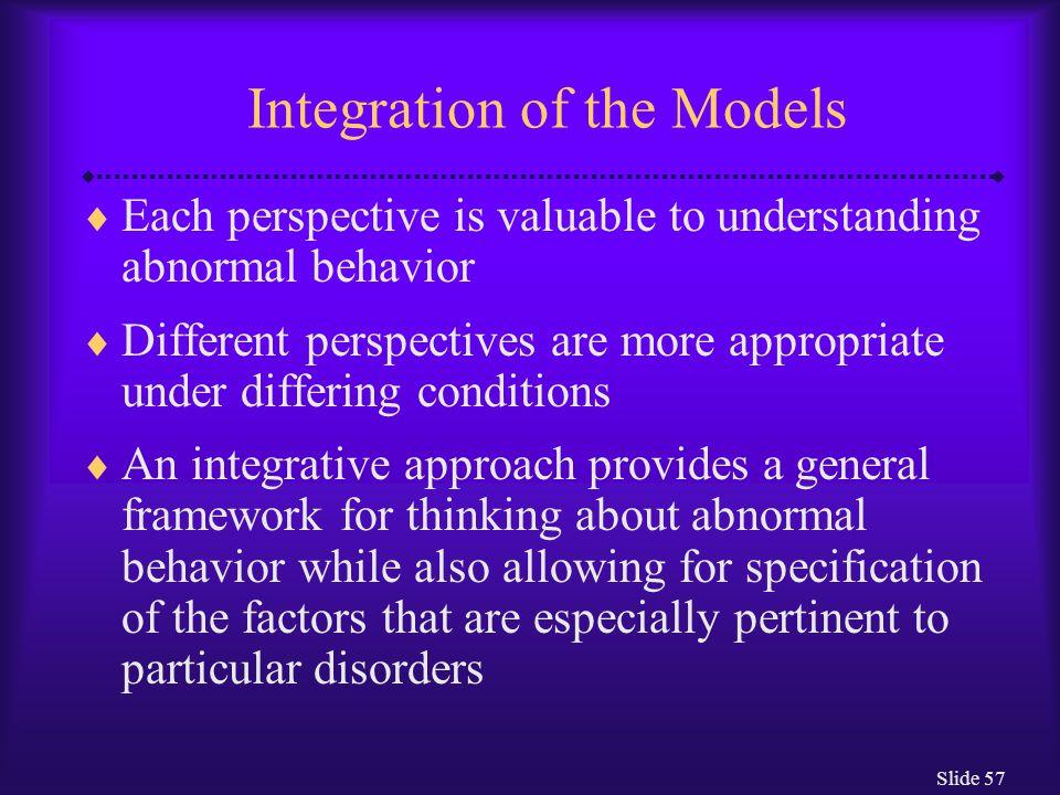 Integration of the Models